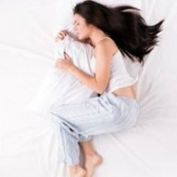 Abbracciando il cuscino